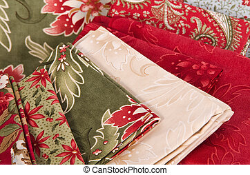 Quilting fabrics and patterns