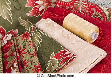 Quilting fabrics and thread