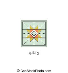 Quilting line icon