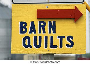 quilts, schuur