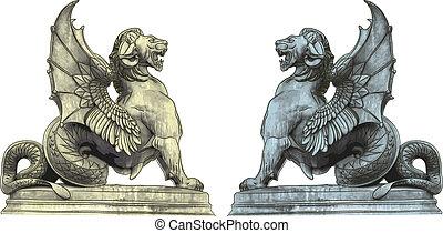 quimera, estatuas