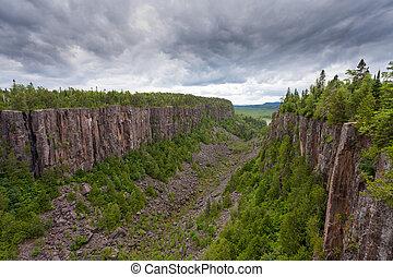 Quimet Canyon taiga landscape Ontario Canada - Quimet Canyon...