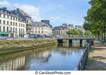 Quimper in Brittany - Scenery at Quimper, a commune and ...