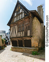 the historic old town of Quimperle in southern Brittany