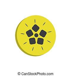 quince 3d icon. colored vector design illustration.