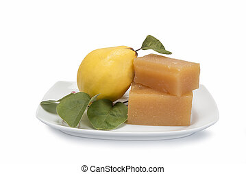 Quince cheese - Still life with quinces and homemade quince ...