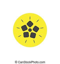 quince flat icon. colored vector design illustration.