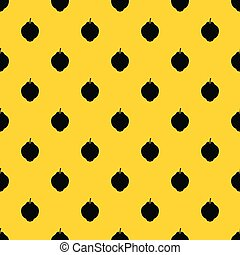 Quince fruit pattern vector - Quince fruit pattern seamless...