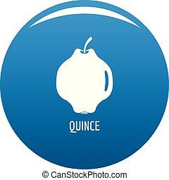 Quince icon blue vector - Quince icon vector blue circle...