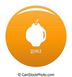 Quince icon orange - Quince icon. Simple illustration of...