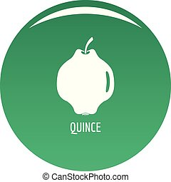 Quince icon vector green - Quince icon. Simple illustration...