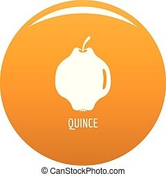 Quince icon vector orange - Quince icon. Simple illustration...