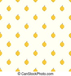 Quince pattern seamless in flat style for any design
