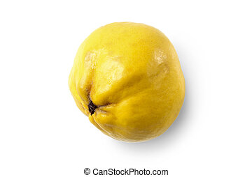 Quince - Ripe yellow quince isolated on white background