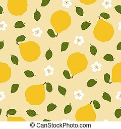 Quince. Seamless Vector Patterns in flat style
