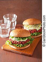 quinoa, avocado, hamburger veggie, barbabietola, ...