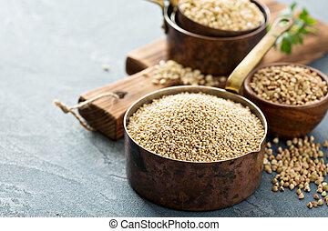 Quinoa, cocina,  gluten, libre