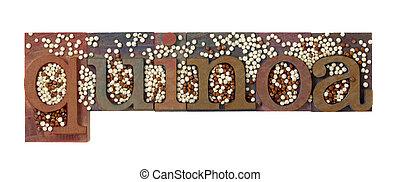 quinoa, mot, grain