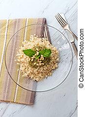 quinoa, pesto, ensalada