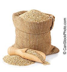 quinoa seeds in bag