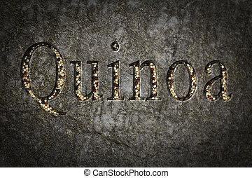 Quinoa Text Engraving