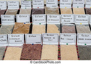 Quinoa types in Lima Peru