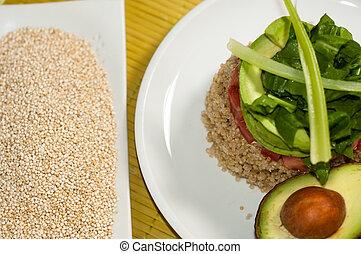 quinoa. vegan food - vegan food