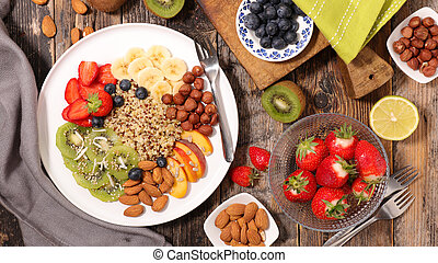 quinoa with fruit and nuts
