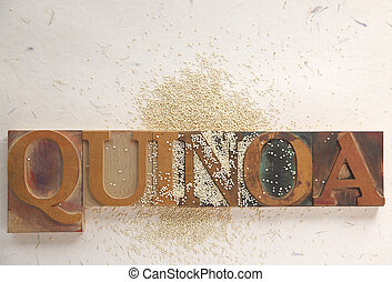 quinoa with word