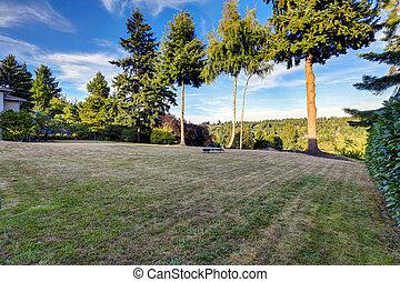 quintal, área repouso, com, visão cênica