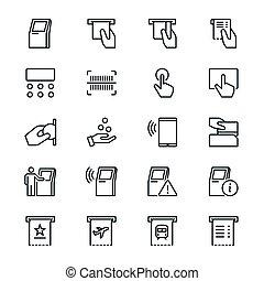 quiosque, magra, ícones