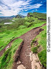 Quiraing in Isle of Skye, Scotland, United Kingdom