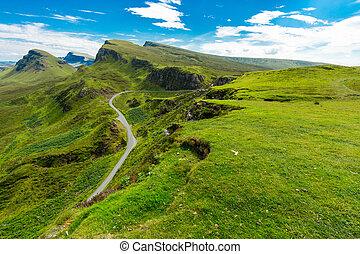 Quiraing mountains, Isle of Skye