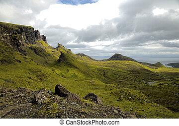 Quiraing on isle of skye, Scotland