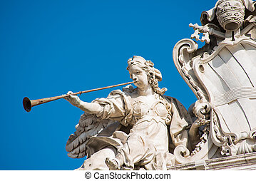quirinal, τετράγωνο , άγαλμα