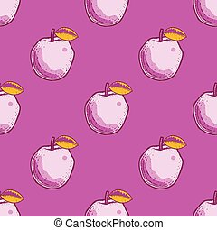 Quirky apple seamless pattern