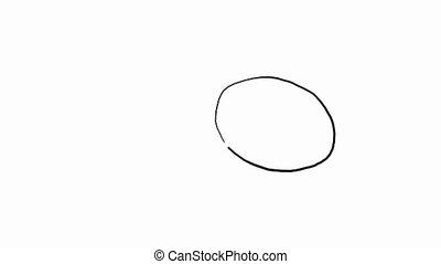 Quirky drawing of a cut lemon, HD