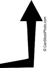 quirky flat symbol arrow - flat symbol quirky arrow