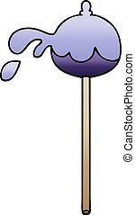 quirky gradient shaded cartoon lolipop - gradient shaded ...