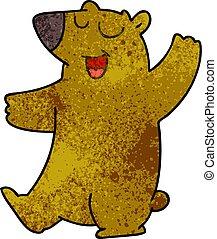 quirky hand drawn cartoon bear