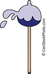 quirky hand drawn cartoon lolipop - hand drawn quirky ...