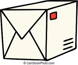 quirky hand drawn cartoon parcel
