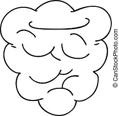 quirky line drawing cartoon raspberry