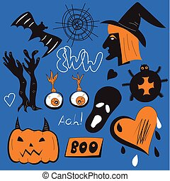 Quirky pin patches halloween