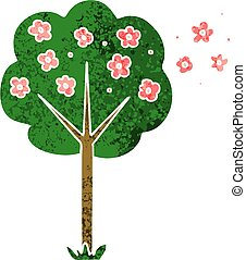 quirky retro illustration style cartoon tree