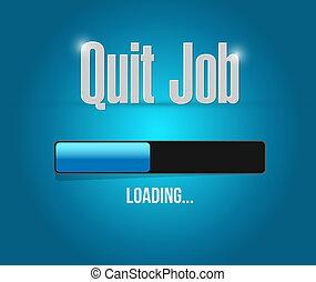quit job loading bar sign concept illustration design...
