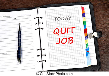 Quit job message on today page