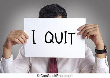 Quit Resign Employee Concept