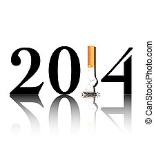 Quit smoking 2014 - New Year's resolution Quit Smoking...