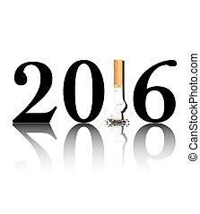 Quit smoking 2016 - New Year's resolution Quit Smoking...